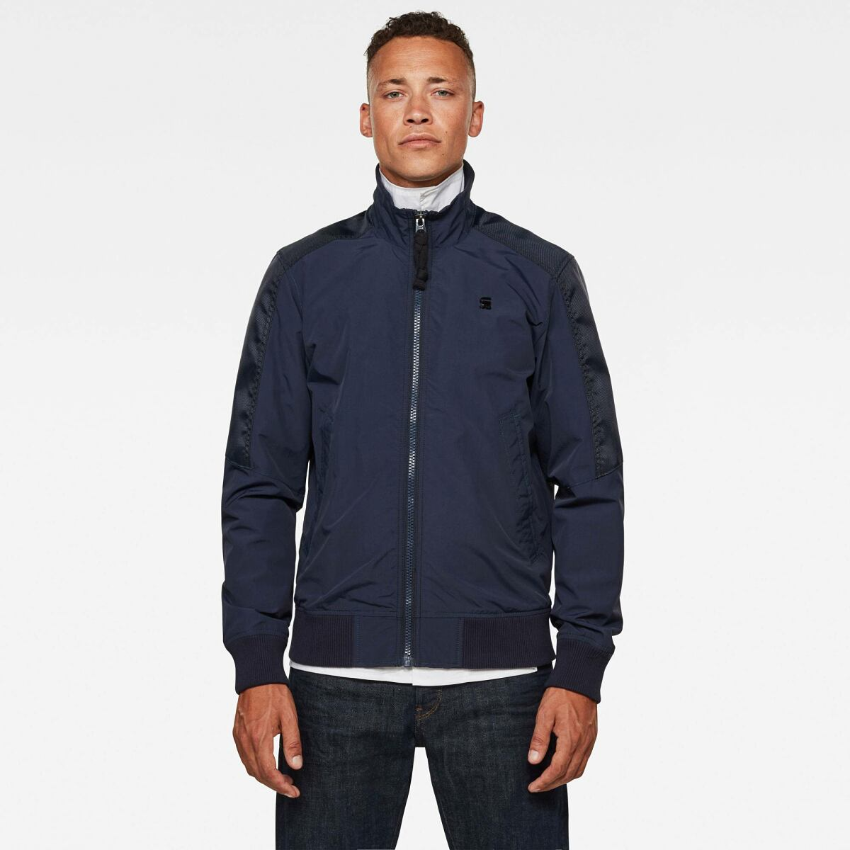 Dark blue Man Jackets and Blazers Meson Track Jacket G-Star MEN