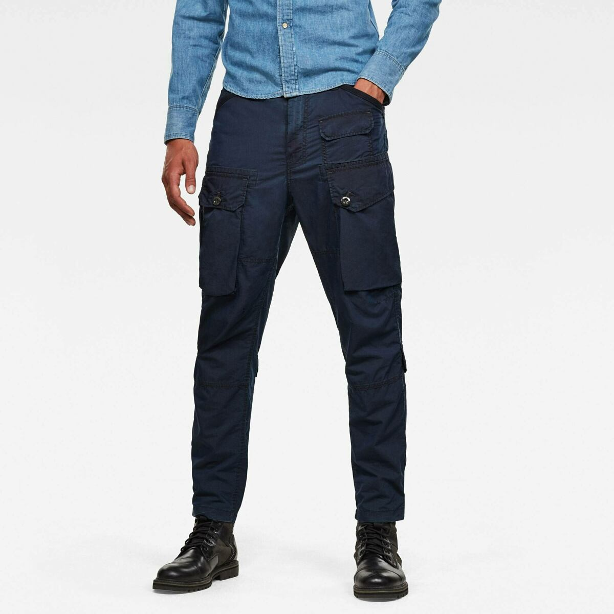 Dark blue Man Pants Jungle Relaxed Tapered Cargo Pants G-Star MEN