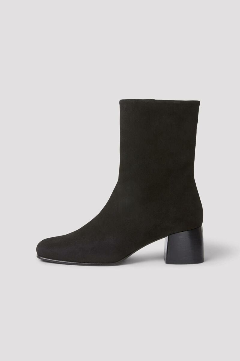 Eileen Leather Woman Boot Black Suede WOMEN