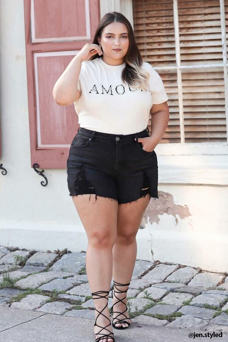 Forever 21 Beige/Multi Plus Size Amour Graphic Tee WOMEN Women FASHION Womens T-SHIRTS