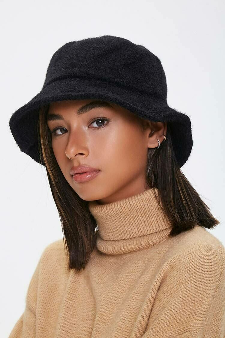 Forever 21 Black Brushed Bucket Hat WOMEN Women ACCESSORIES Womens HATS