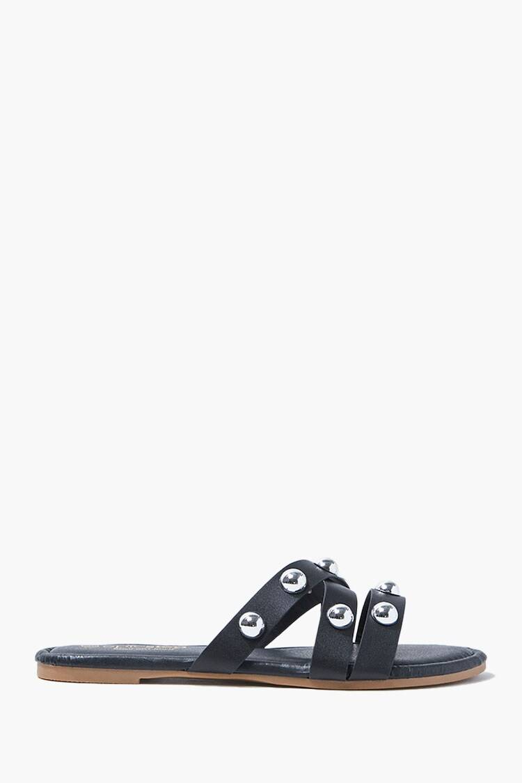 Forever 21 Black Caged Stud Sandals WOMEN Women SHOES Womens SANDALS