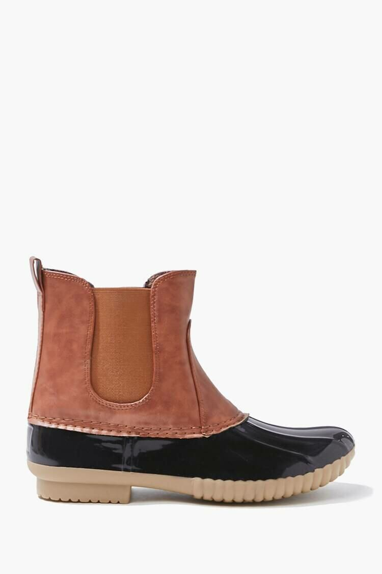 Forever 21 Black Faux Leather Duck Boots WOMEN Women SHOES Womens BOOTS