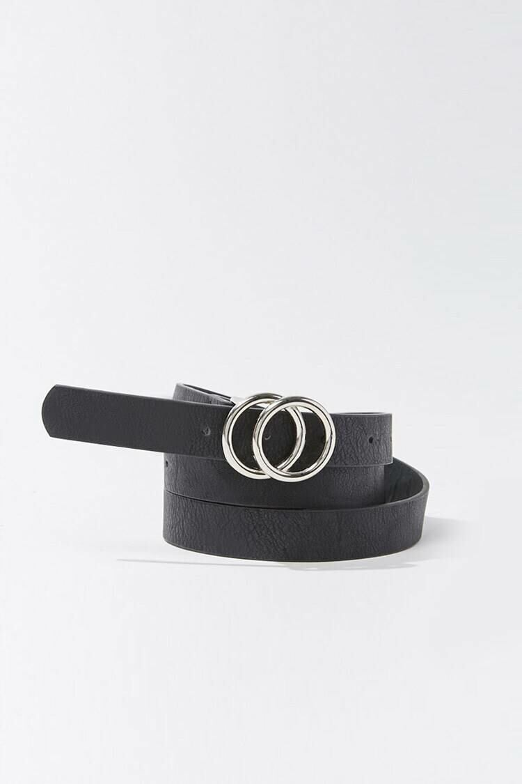 Forever 21 Black Faux Leather Skinny Waist Belt WOMEN Women ACCESSORIES Womens BELTS
