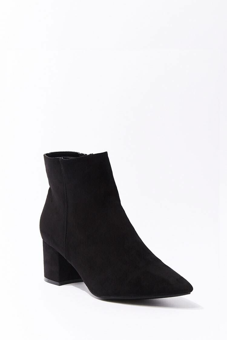 Forever 21 Black Faux Suede Booties WOMEN Women SHOES Womens ANKLE BOOTS