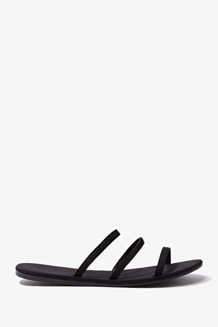Forever 21 Black Strappy Open-Toe Sandals WOMEN Women SHOES Womens SANDALS