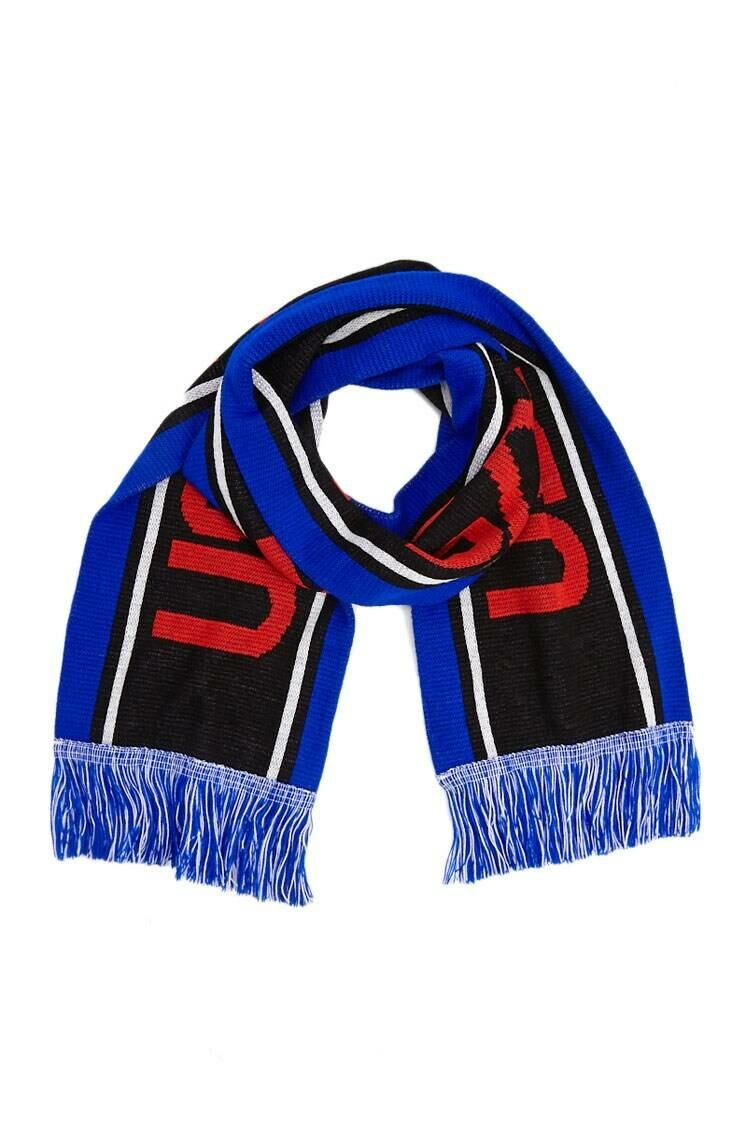 Forever 21 Blue/Red Colorblock NASA Graphic Scarf WOMEN Women ACCESSORIES Womens SCARFS