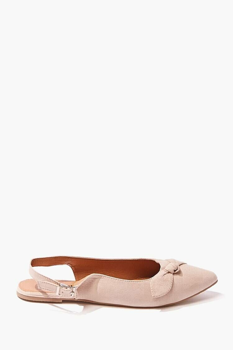 Forever 21 Brown Faux Suede Bow Flats WOMEN Women SHOES Womens FLAT SHOES