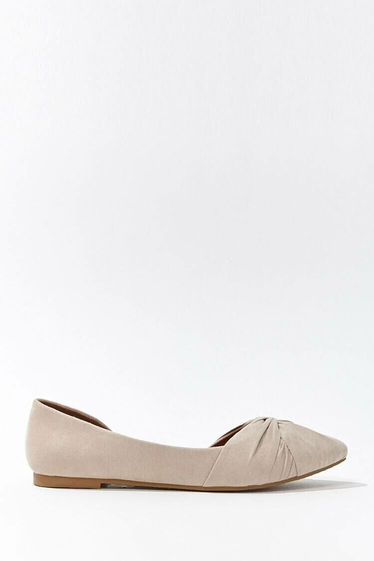 Forever 21 Brown Faux Suede Twisted Vamp Flats WOMEN Women SHOES Womens FLAT SHOES