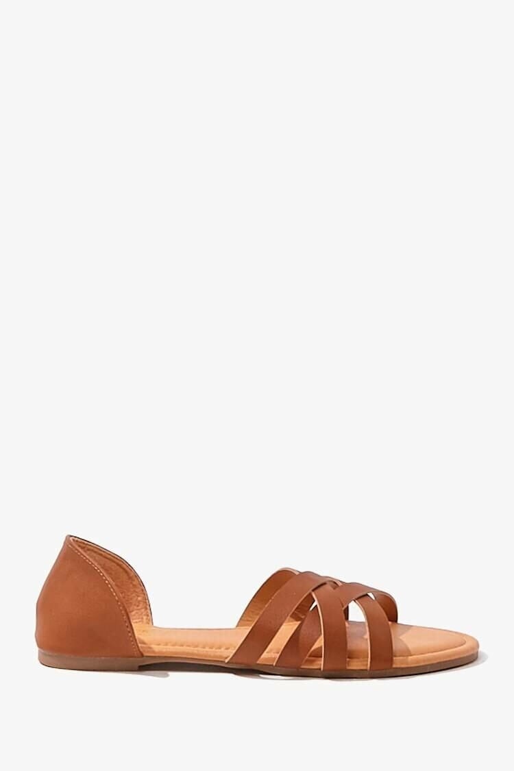 Forever 21 Brown Strappy Faux Leather Sandals WOMEN Women SHOES Womens SANDALS