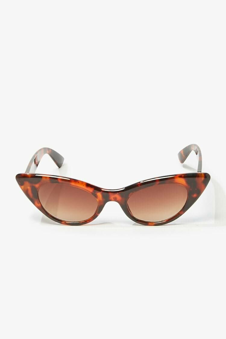 Forever 21 Brown/Brown Cat-Eye Tortoiseshell Sunglasses WOMEN Women ACCESSORIES Womens SUNGLASSES