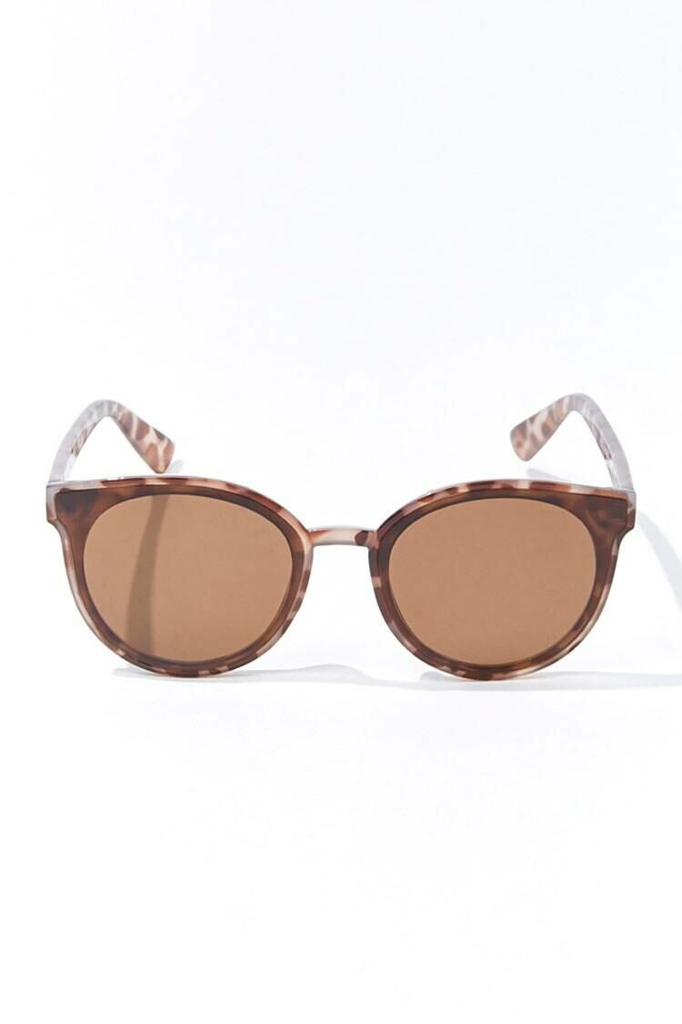 Forever 21 Brown/Brown Round Tortoiseshell Sunglasses WOMEN Women ACCESSORIES Womens SUNGLASSES
