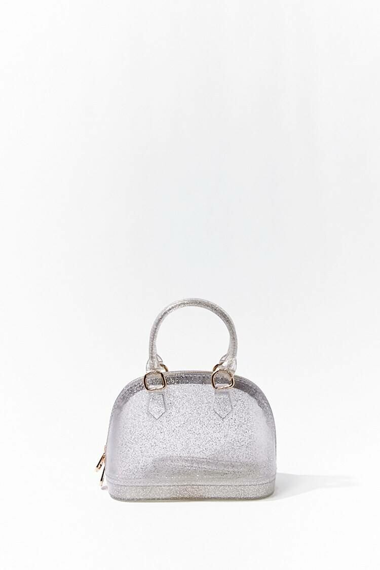 Forever 21 Clear Vinyl Glittered Crossbody Satchel WOMEN Women ACCESSORIES Womens BAGS