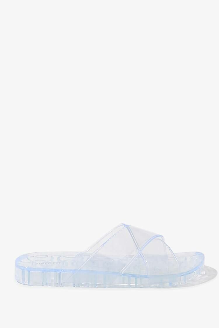 Forever 21 Clear Vinyl Jelly Slides WOMEN Women SHOES Womens SLIPPERS