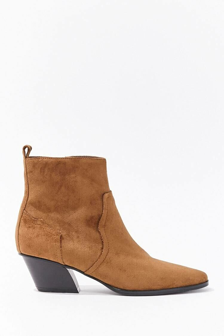 Forever 21 Darkbrown Faux Suede Booties WOMEN Women SHOES Womens ANKLE BOOTS