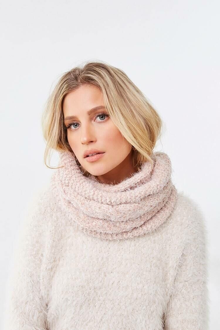 Forever 21 Dustypink Brushed Chenille Infinity Scarf WOMEN Women ACCESSORIES Womens SCARFS