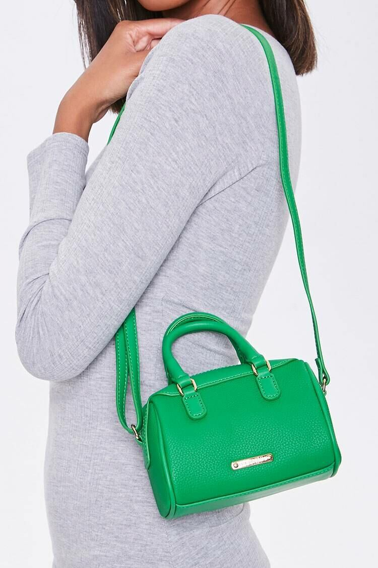Forever 21 Green Faux Leather Crossbody Bag WOMEN Women ACCESSORIES Womens BAGS