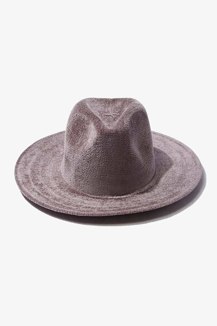 Forever 21 Grey Chenille Fedora Hat WOMEN Women ACCESSORIES Womens HATS