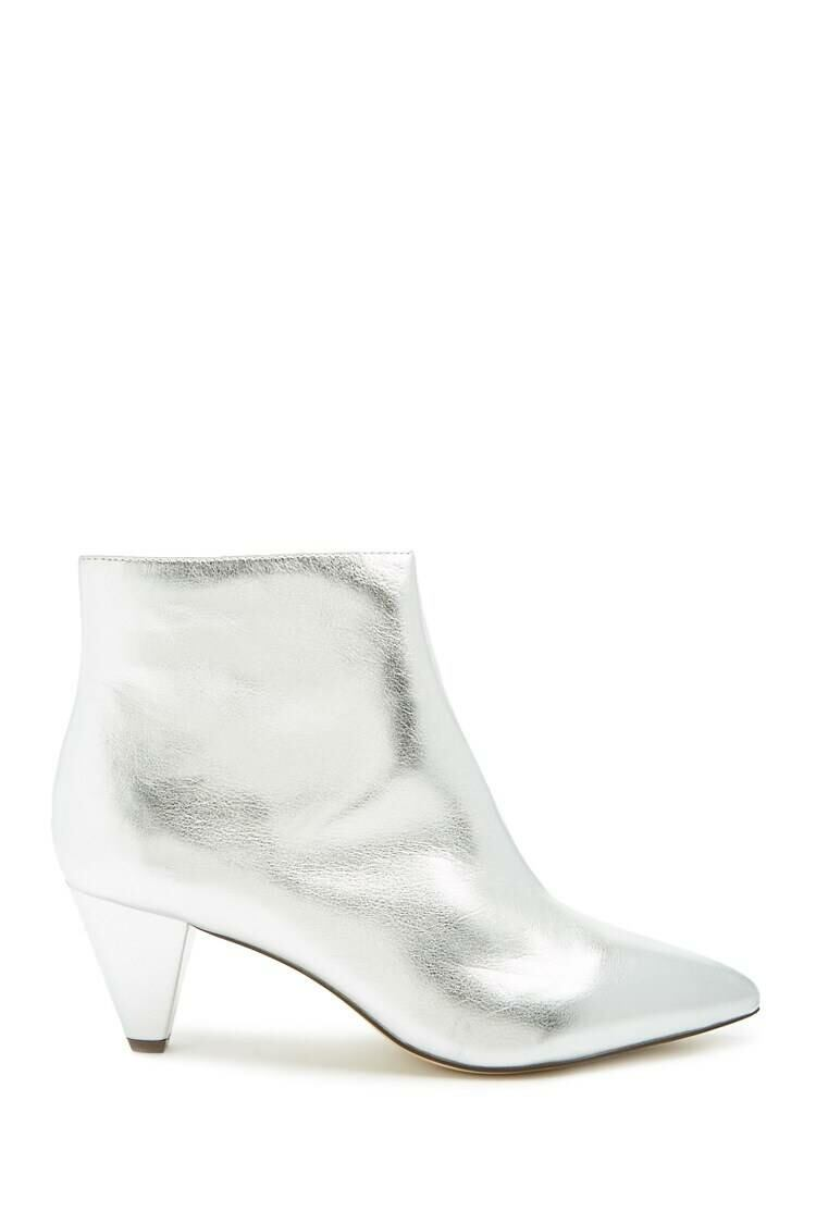 Forever 21 Grey Faux Patent Leather Booties WOMEN Women SHOES Womens ANKLE BOOTS
