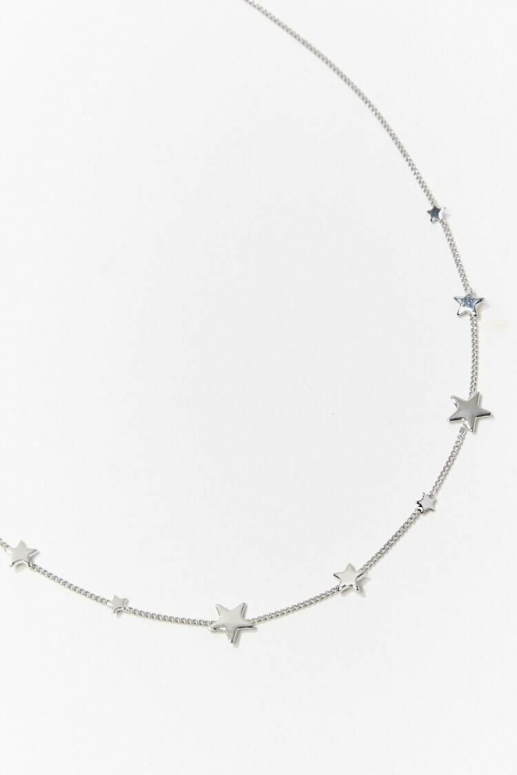 Forever 21 Grey Star Charm Necklace WOMEN Women ACCESSORIES Womens JEWELRY