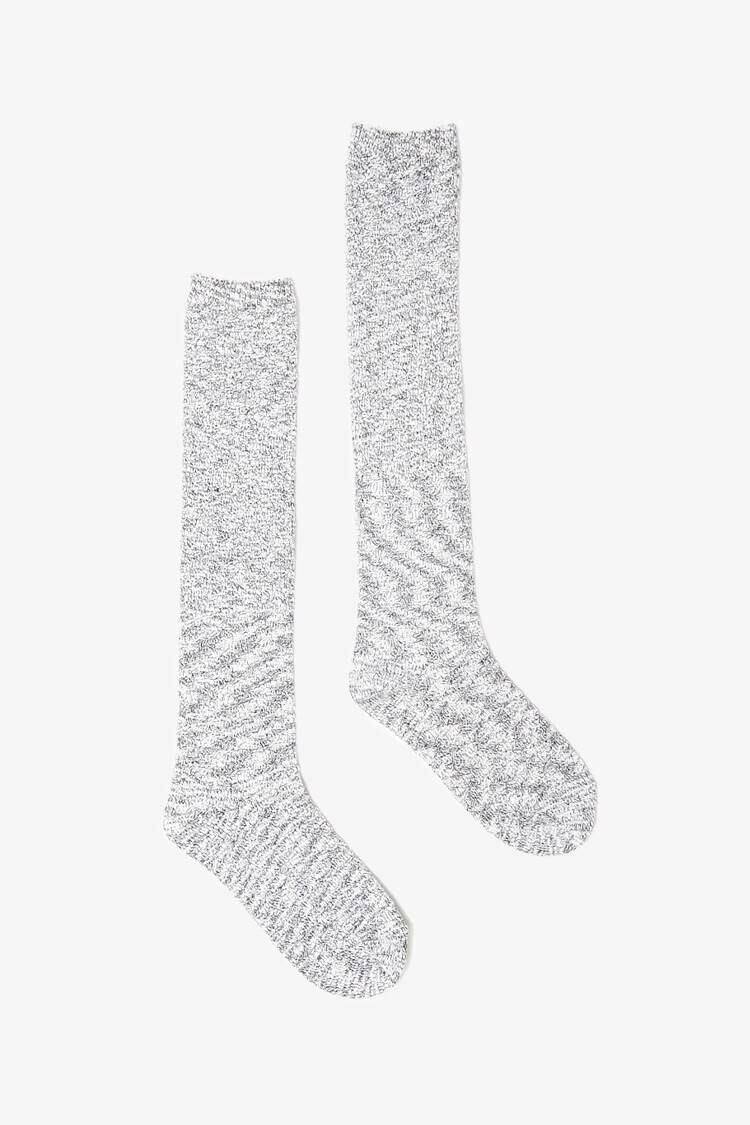 Forever 21 Heathergrey Knee High Socks WOMEN Women ACCESSORIES Womens SOCKS