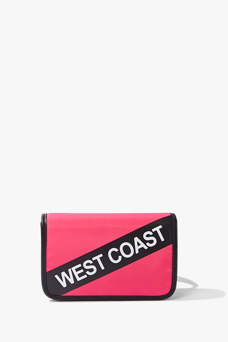 Forever 21 Hotpink/White West Coast Graphic Belt Bag WOMEN Women ACCESSORIES Womens BAGS