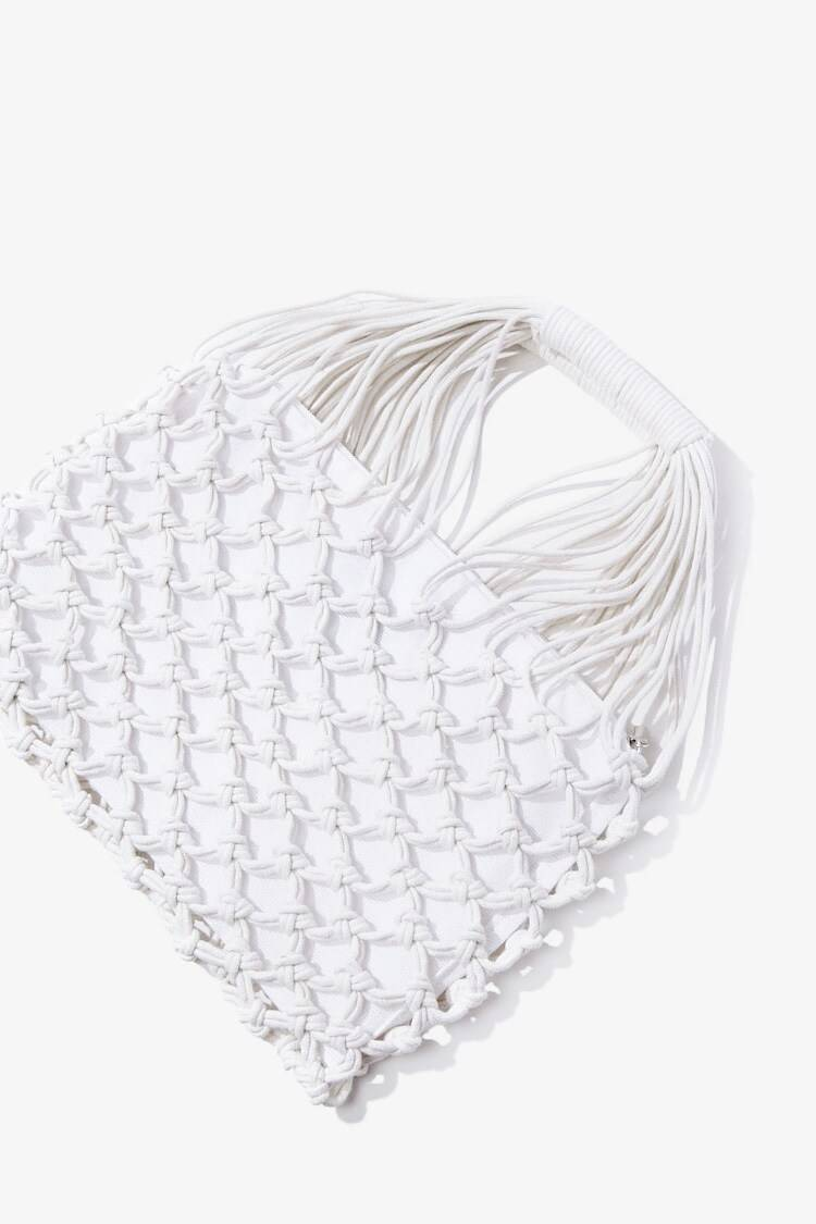 Forever 21 Natural Rope Net Tote Bag WOMEN Women ACCESSORIES Womens BAGS