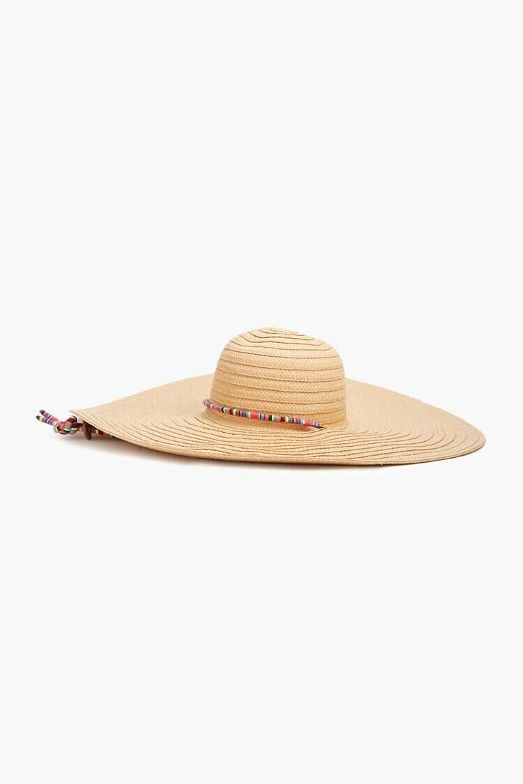 Forever 21 Natural/Multi Floppy Straw Hat WOMEN Women ACCESSORIES Womens HATS