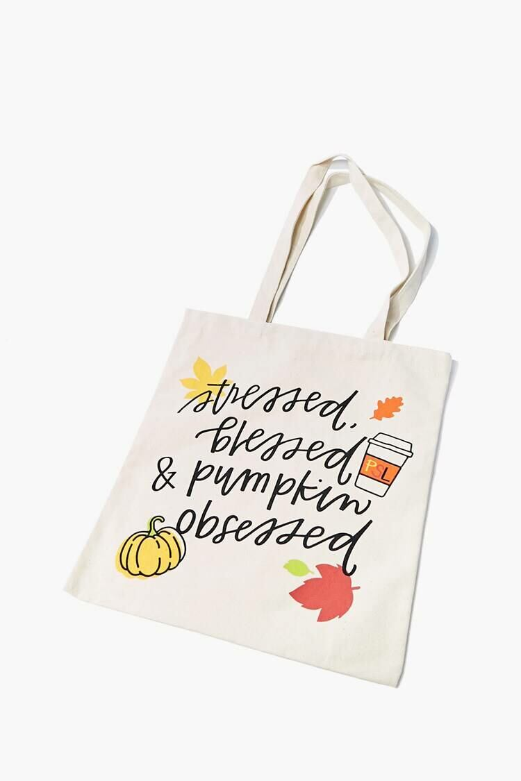 Forever 21 Natural/Multi Pumpkin Obsessed Tote Bag WOMEN Women SHOES Womens PUMPS