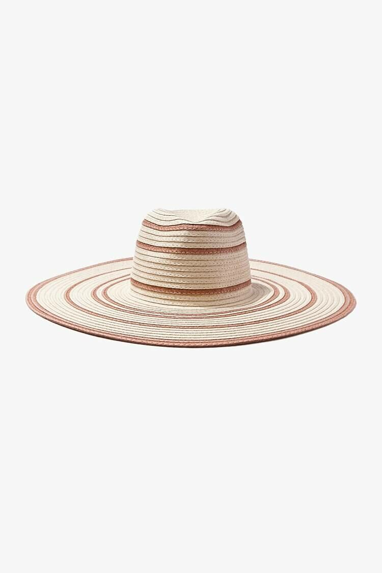 Forever 21 Natural/Multi Striped Floppy Straw Hat WOMEN Women ACCESSORIES Womens HATS