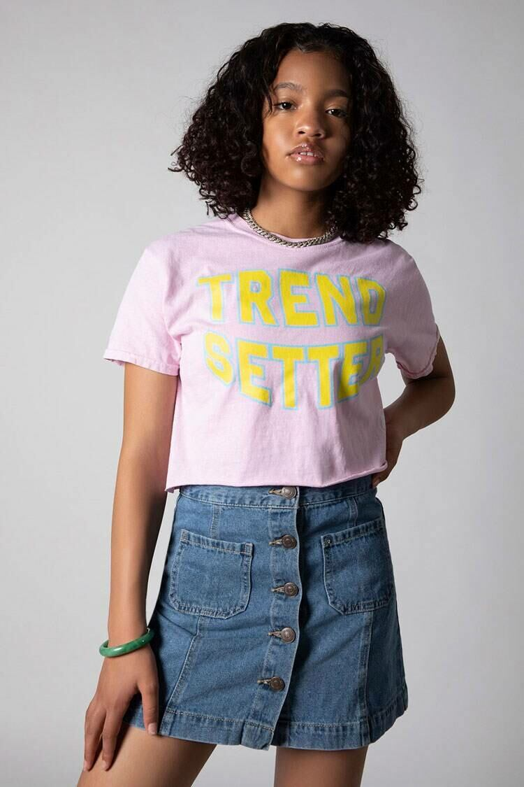 Forever 21 Pink Project Level Trendsetter Tee WOMEN Women FASHION Womens T-SHIRTS