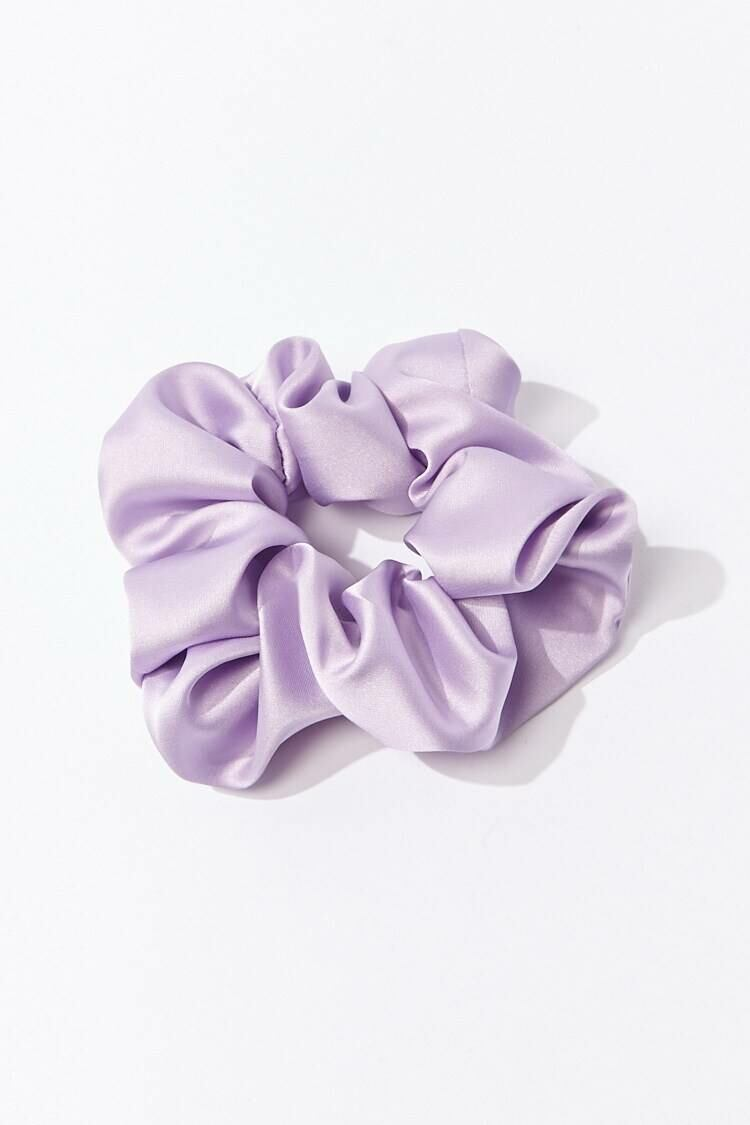 Forever 21 Purple Silken Woven Hair Scrunchie WOMEN Women ACCESSORIES Womens HATS