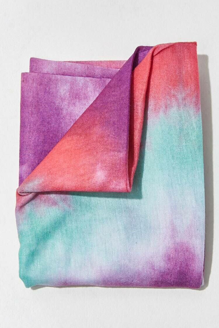 Forever 21 Purple/Multi Tie-Dye Wash Scarf WOMEN Women ACCESSORIES Womens SCARFS