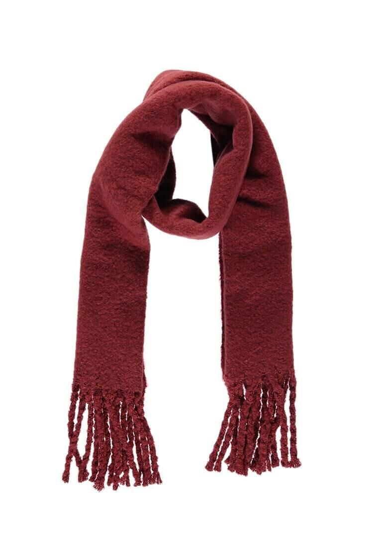 Forever 21 Red Brush Knit Scarf WOMEN Women ACCESSORIES Womens SCARFS