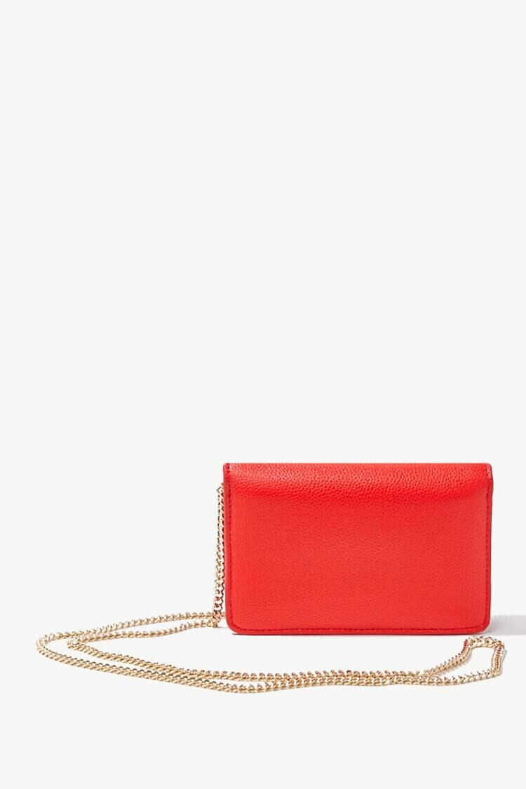 Forever 21 Red Mini Faux Leather Crossbody Bag WOMEN Women ACCESSORIES Womens BAGS