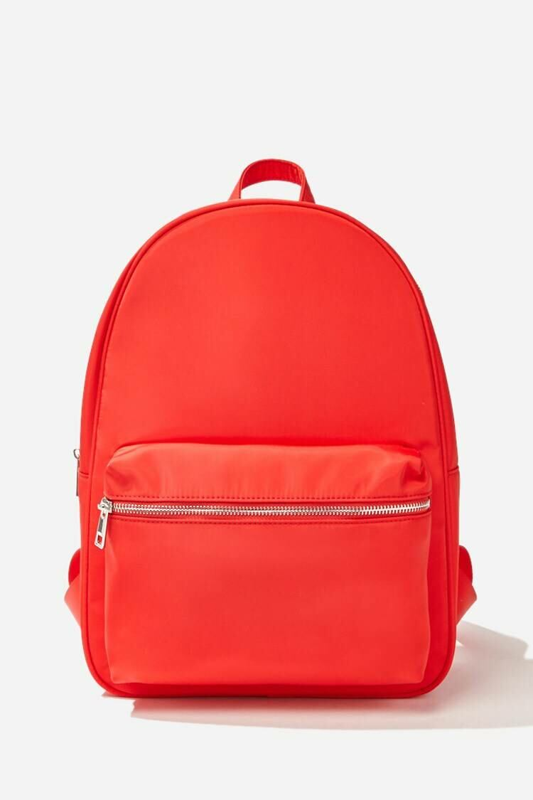 Forever 21 Red Zip-Top Backpack WOMEN Women FASHION Womens TOPS
