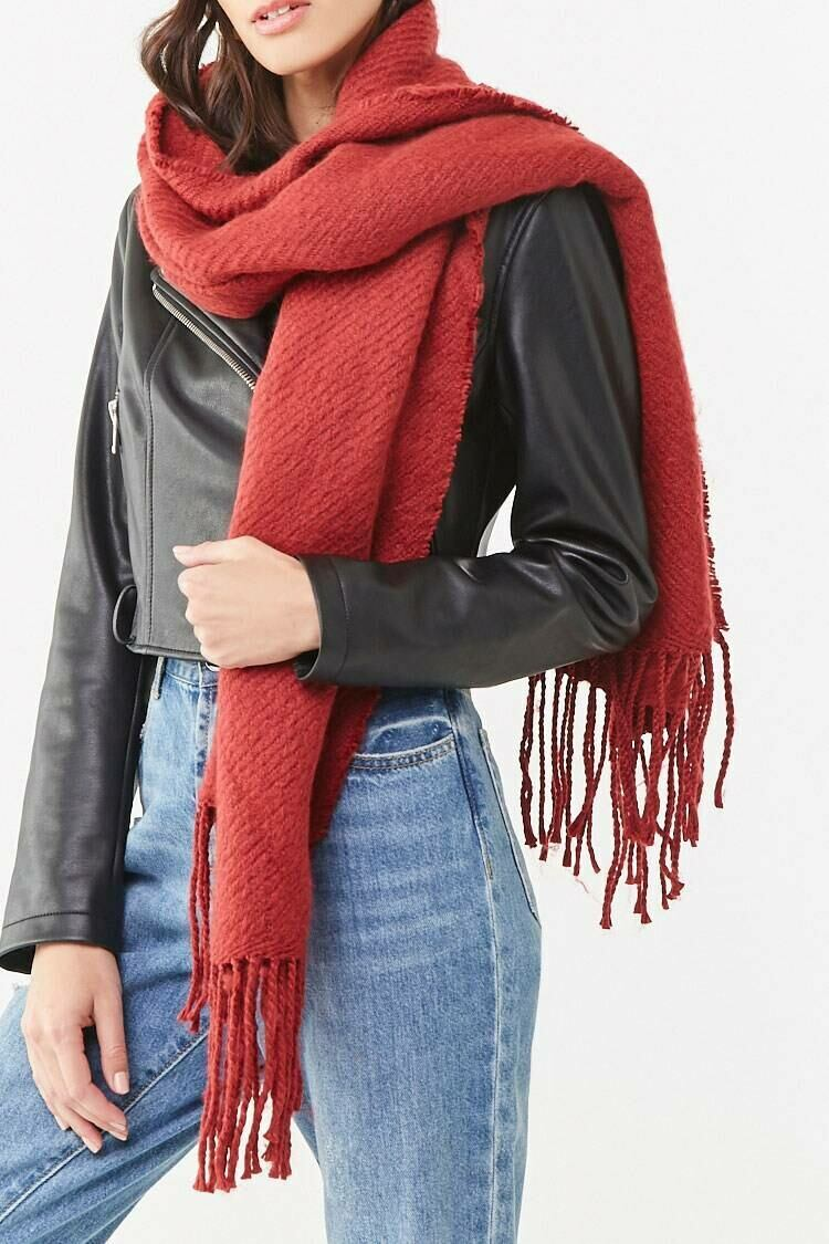 Forever 21 Ref Ribbed Oblong Scarf WOMEN Women ACCESSORIES Womens SCARFS