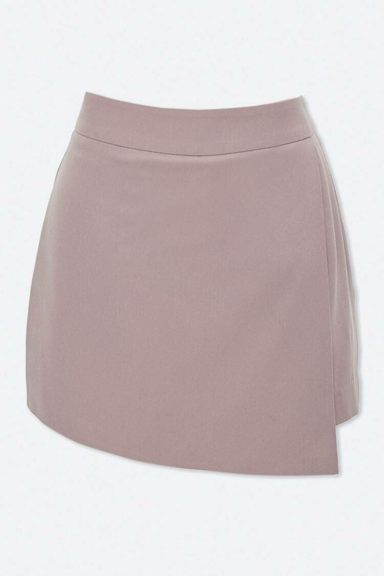 Forever 21 Taupe Solid Woven Skort WOMEN Women FASHION Womens SKIRTS
