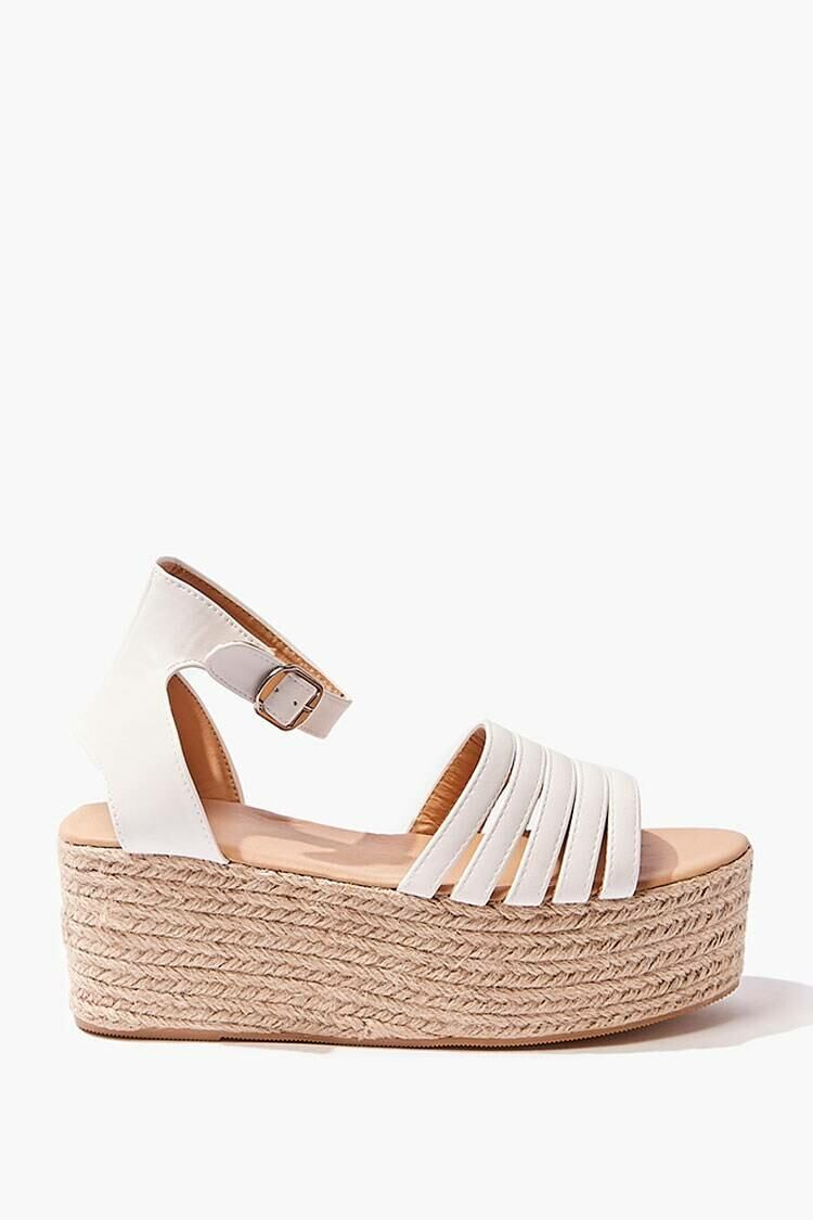 Forever 21 White Caged Wicker Wedges WOMEN Women SHOES Womens SLIPPERS