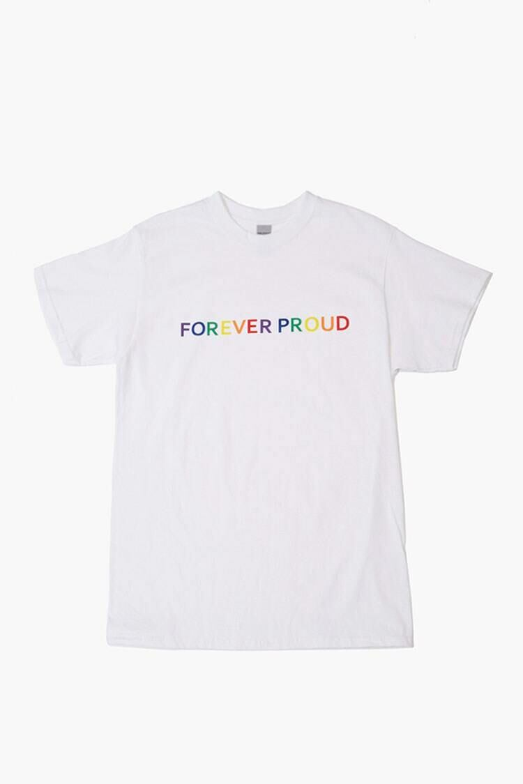Forever 21 White/Multi Plus Size Forever Proud Graphic Tee WOMEN Women FASHION Womens T-SHIRTS