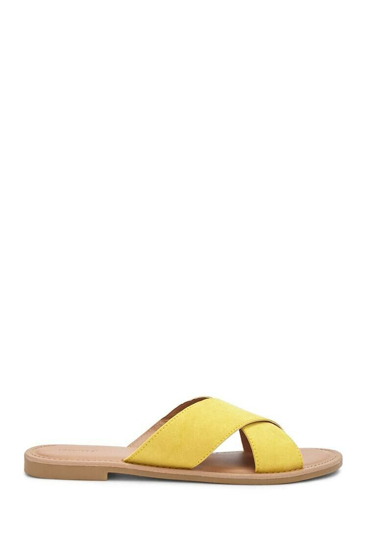 Forever 21 Yellow Faux Suede Sandals WOMEN Women SHOES Womens SANDALS