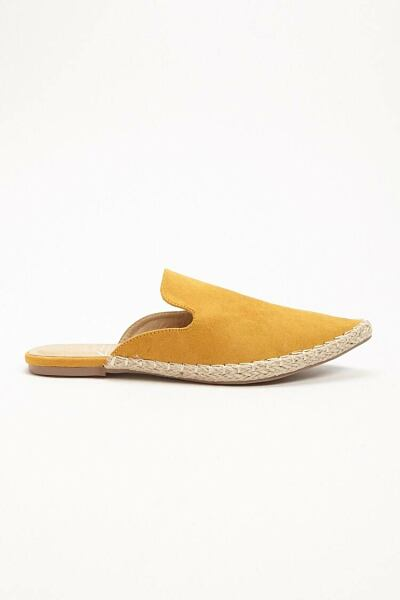 Forever 21 Yellow St. Sana Faux Leather Espadrille Mules WOMEN Women SHOES Womens SLIPPERS
