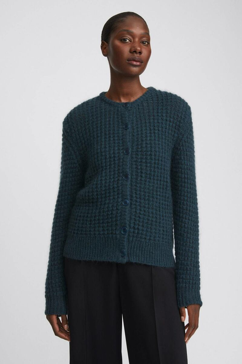 Freya Mohair Woman Cardigan Pacific Green WOMEN