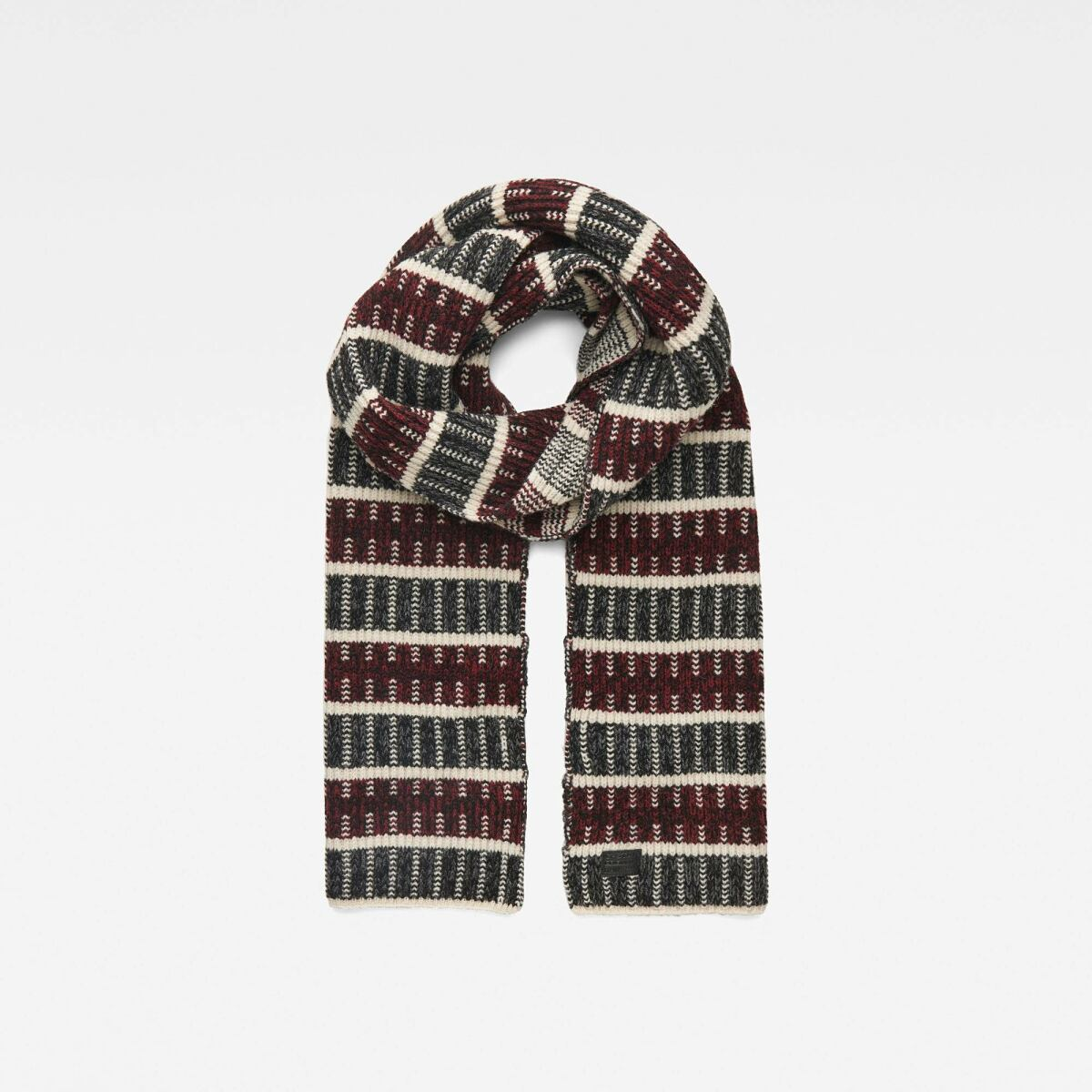 G-Star Men Red Rib Jacquard Scarf Accessories MEN