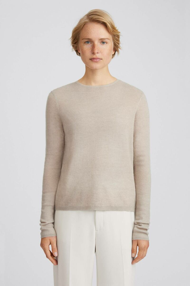 Grey Beige Ines Women Mohair Sweater Filippa K NO WOMEN