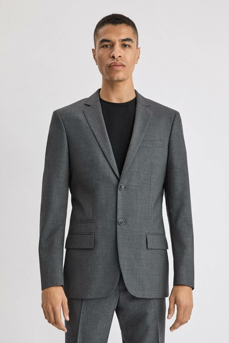 Grey Mel. Rick Men Wool Jacket Filippa K NO MEN