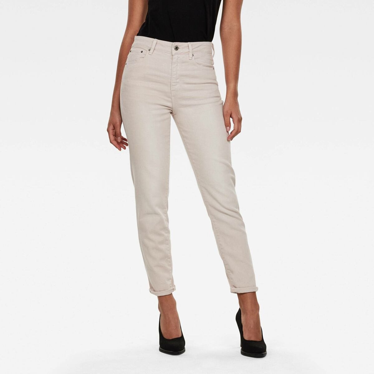 Grey Woman Jeans 3301 High Straight 90's Ankle Jeans G-Star WOMEN