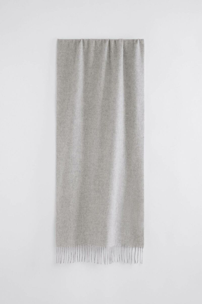 Ladies Light Grey Melange Cashmere Blend Scarf Filippa K FR WOMEN
