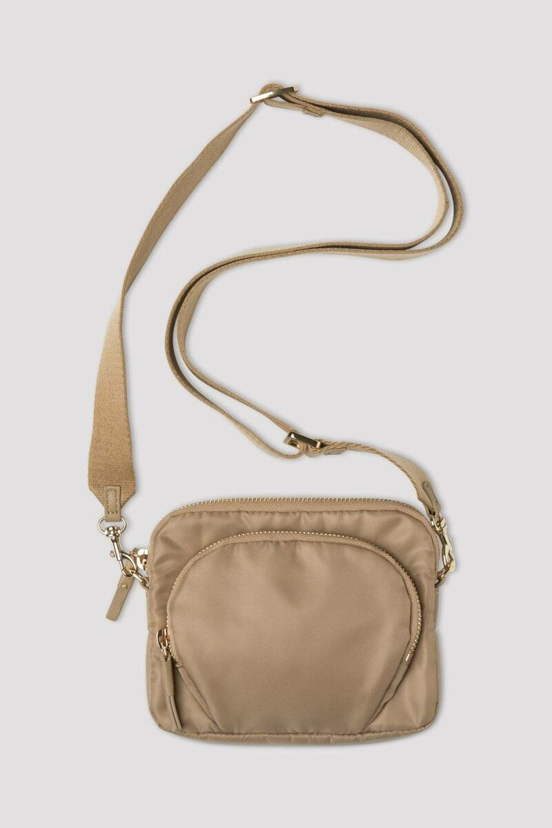 Ladies Warm Taupe Mini Nylon Bag Filippa K FR WOMEN