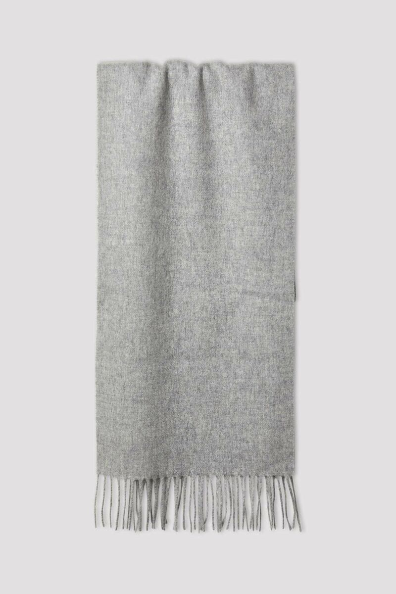 Light Grey Melange Cashmere Men Scarf Filippa K NO MEN